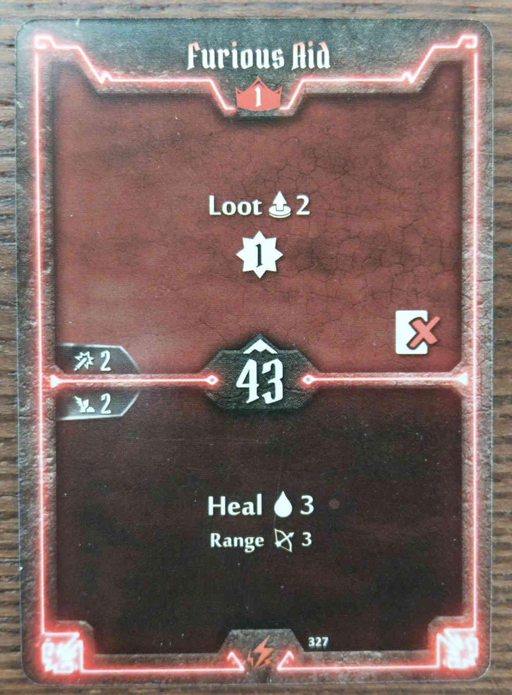 Level 1 Berserker card Furious Aid