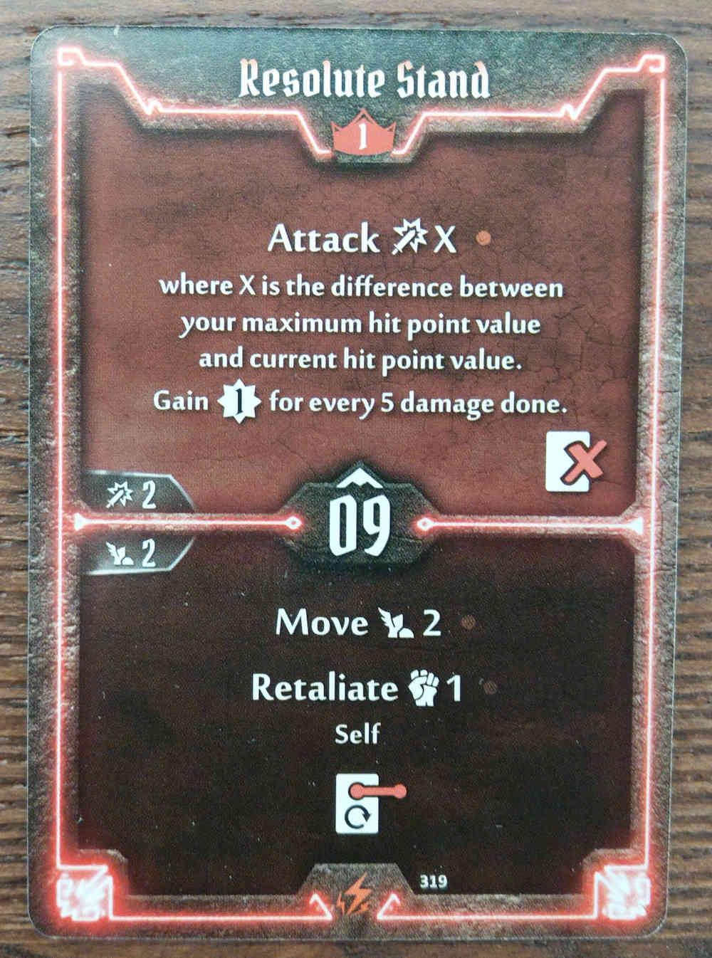 Level 1 Berserker card Resolute Stand