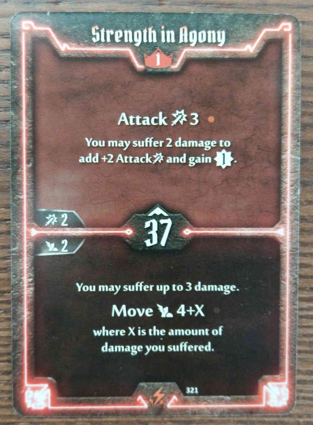 Level 1 Berserker card Strength in Agony