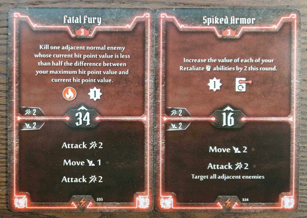 Level 3 Berserker cards - Fatal Fury and Spiked Armor