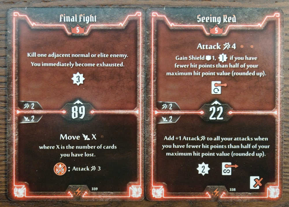 Level 5 Berserker cards - Final Fight and Seeing Red