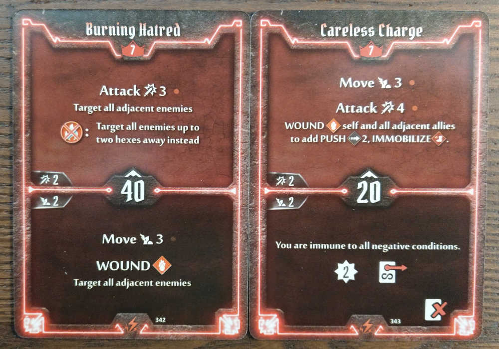 Level 7 Berserker cards - Burning Hatred and Careless Charge