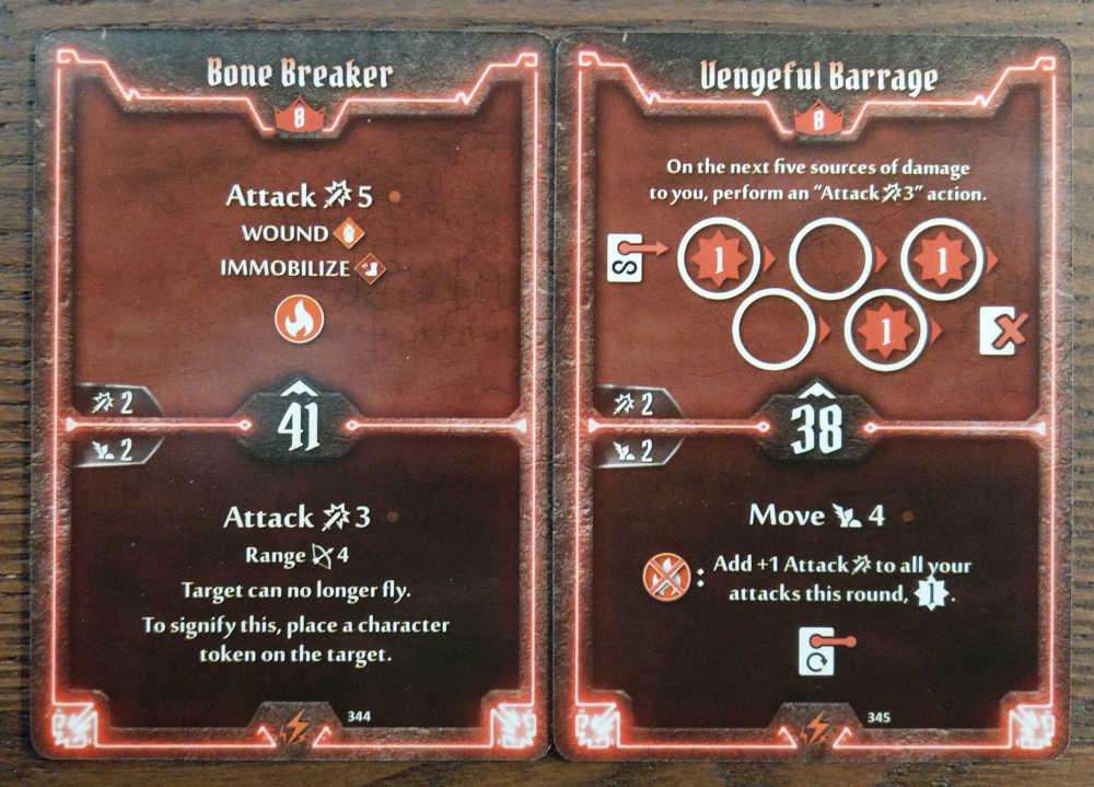 Level 8 Berserker cards - Bone Breaker and Vengeful Barrage
