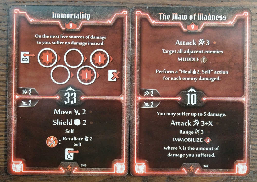 Level 9 Berserker cards - Immortality and The Maw of Madness