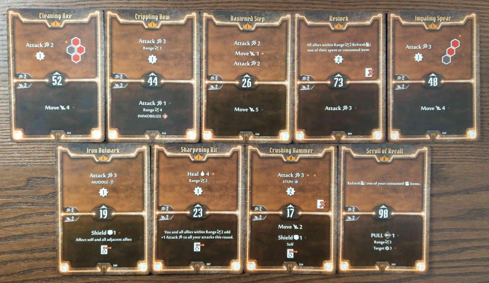 Level 1 Quartermaster build cards