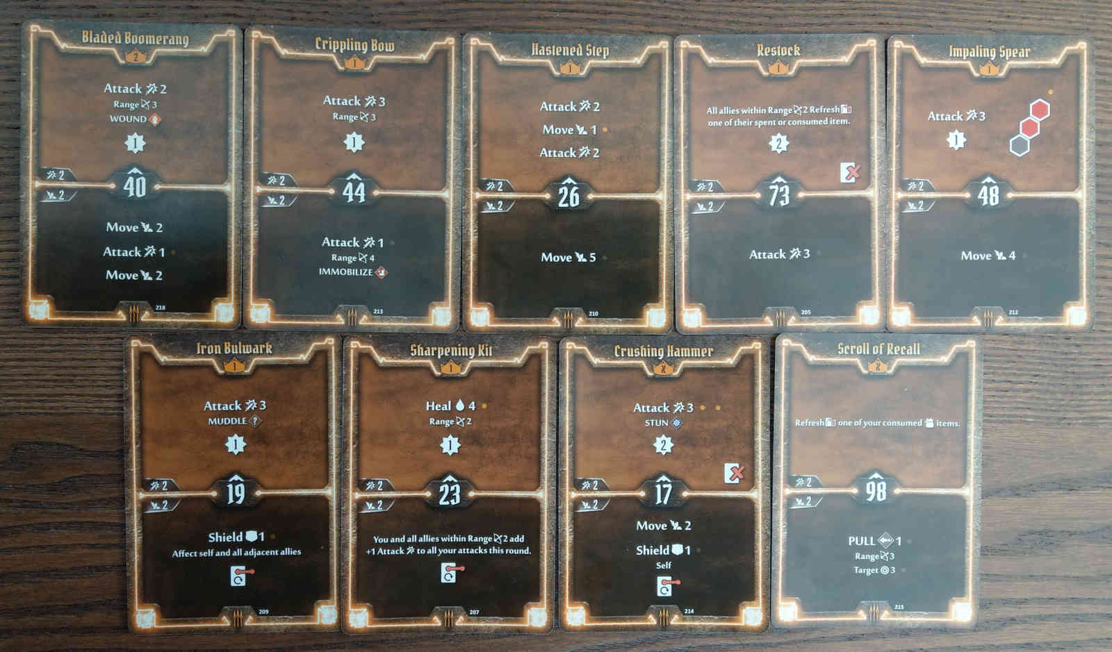 Level 2 Quartermaster deck cards
