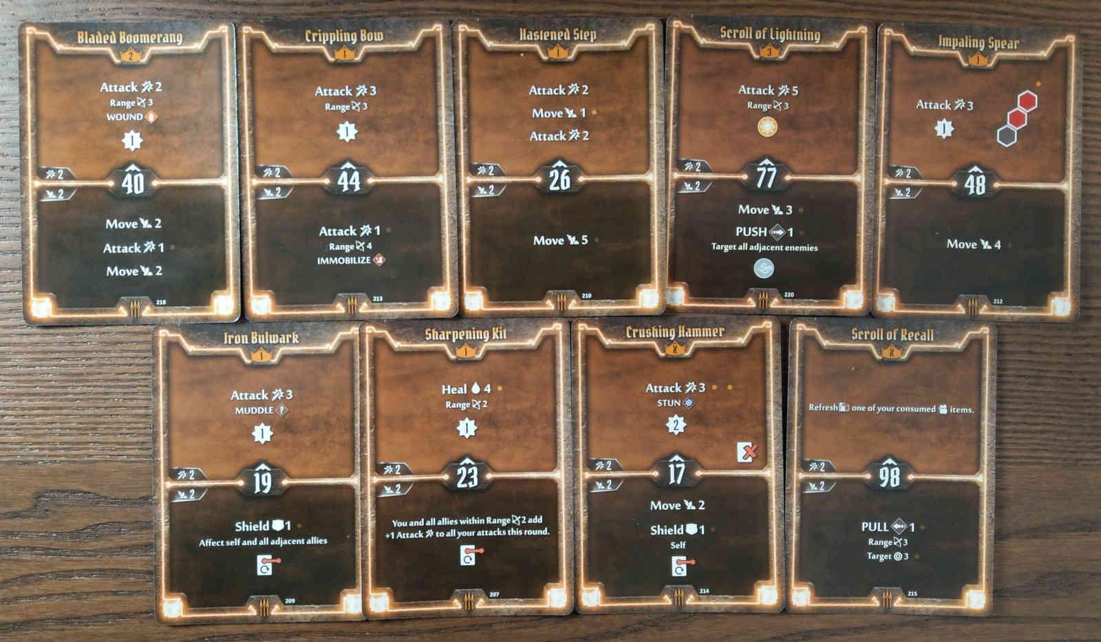 Level 3 Quartermaster build deck cards