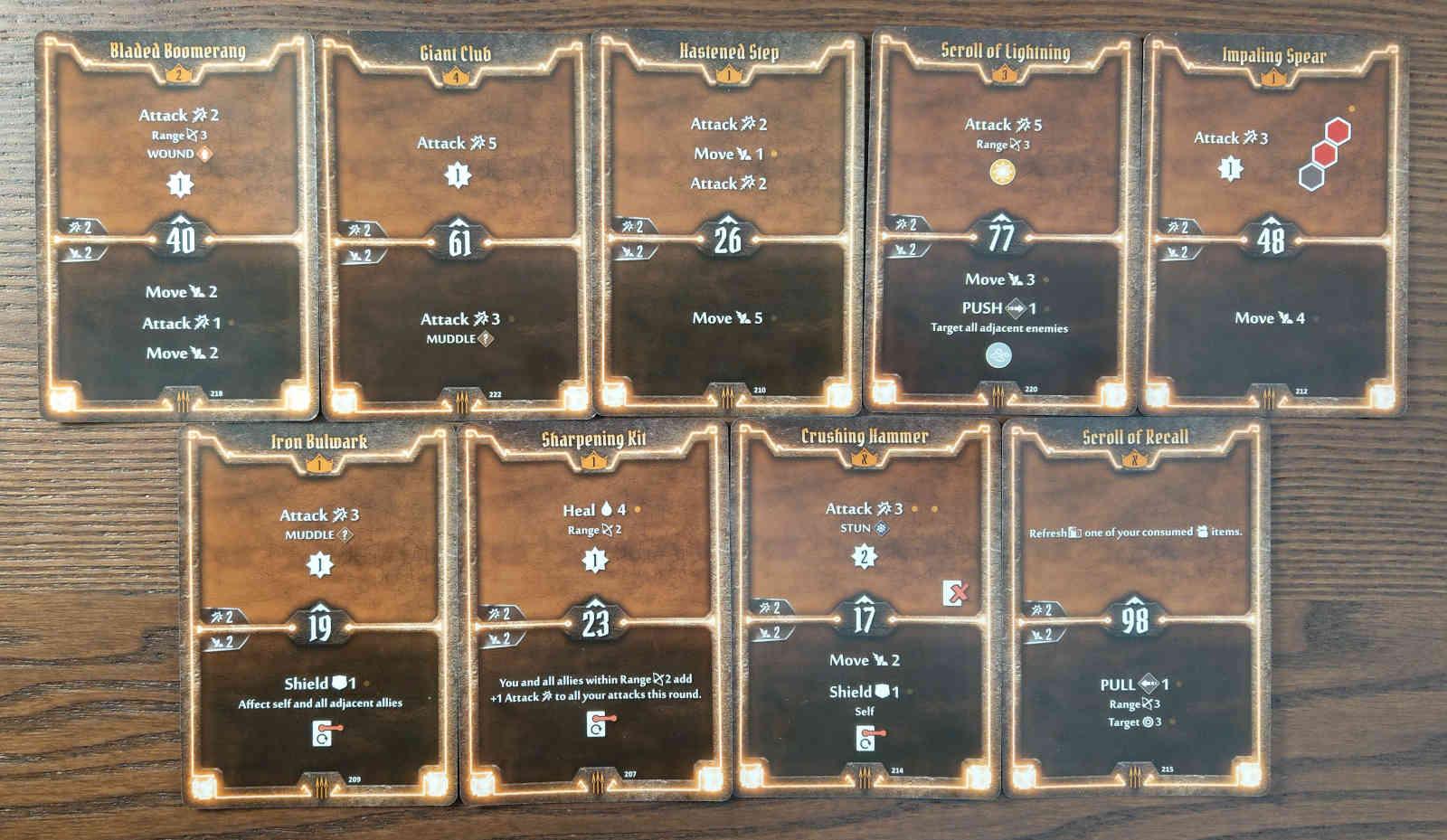 Level 4 Quartermaster build deck cards