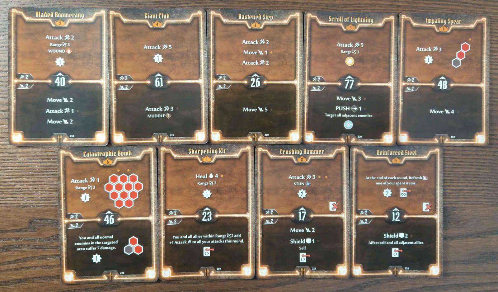 Level 6 Quartermaster build cards