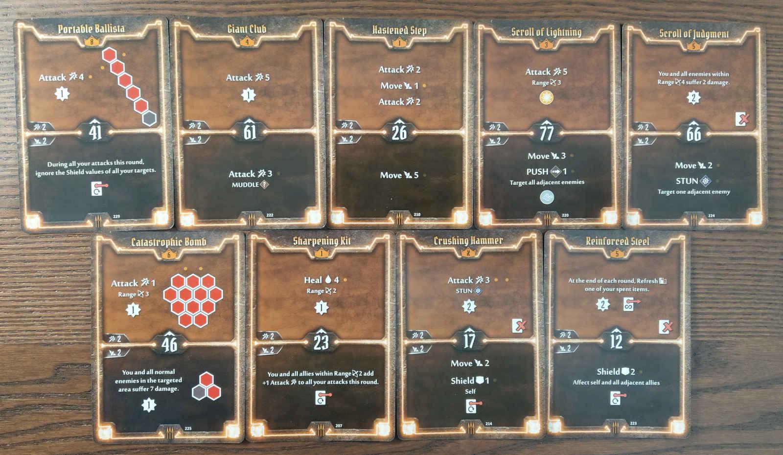 Quartermaster level 8 build cards