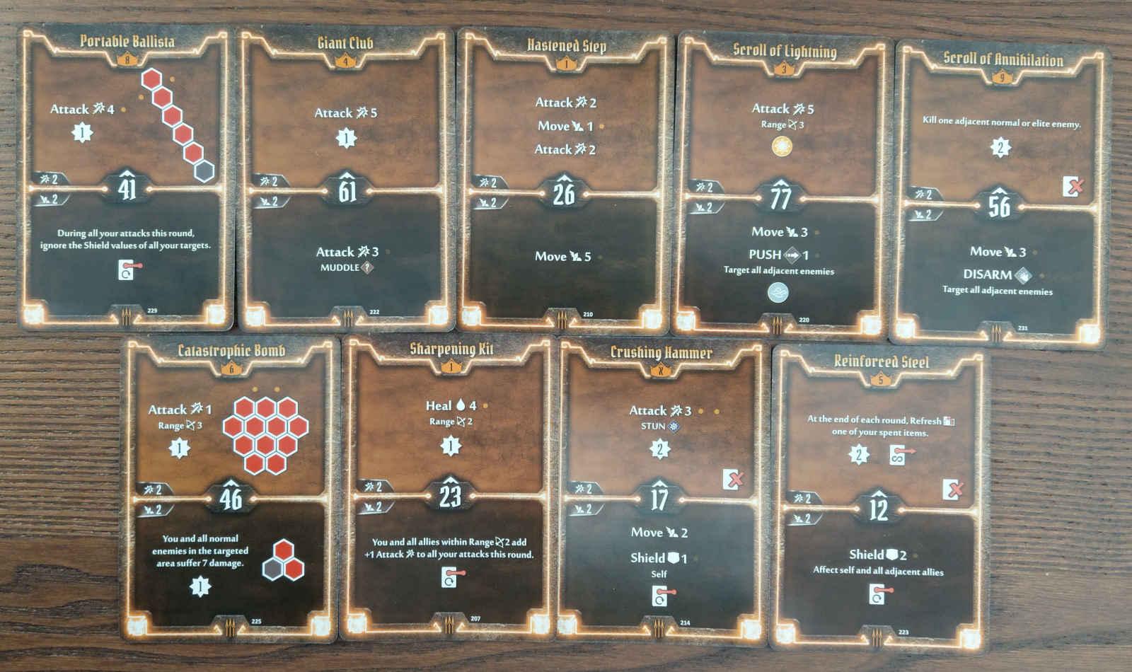 Level 9 Quartermaster build cards