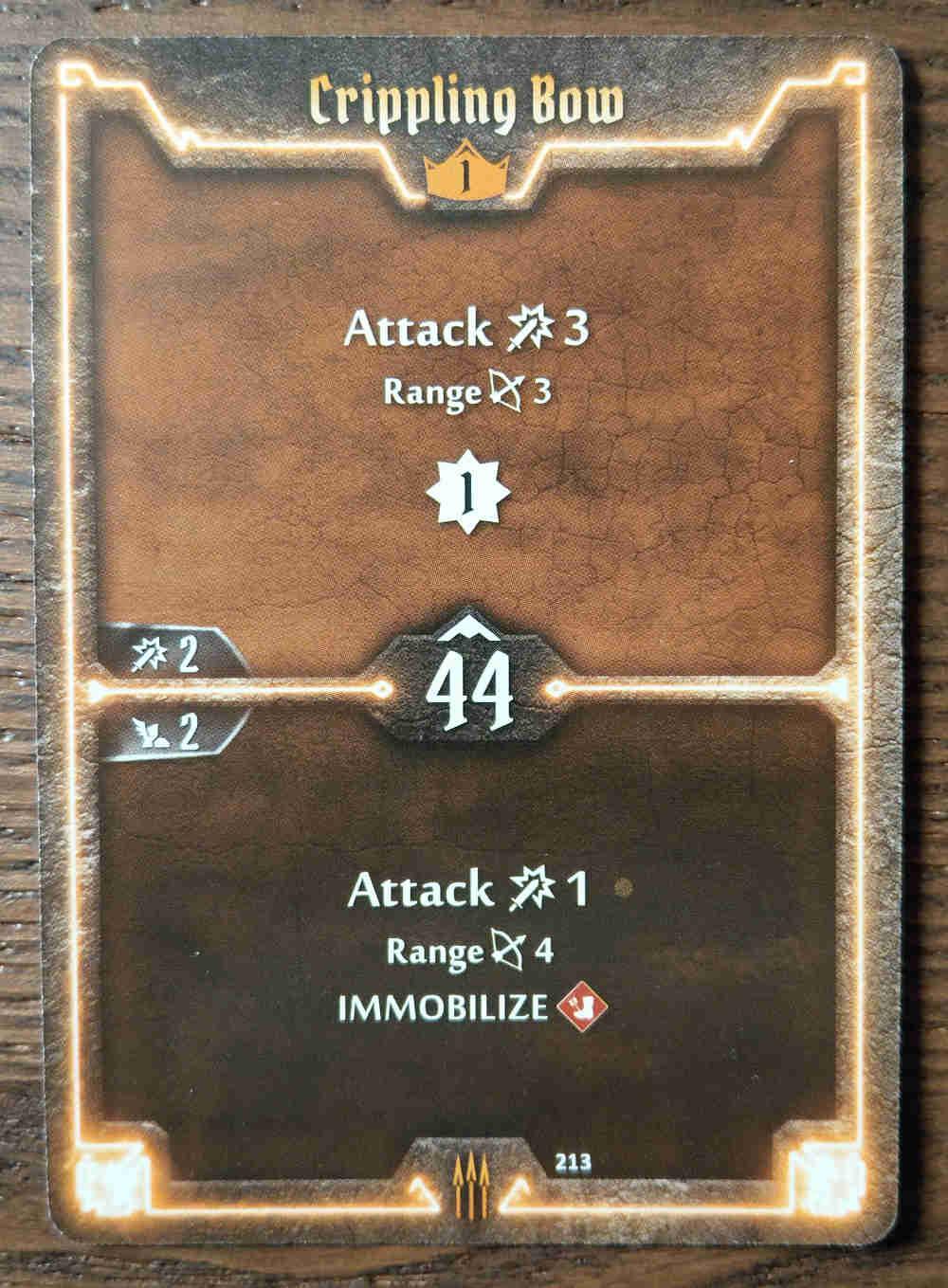 Level 1 Quartermaster card Crippling Bow