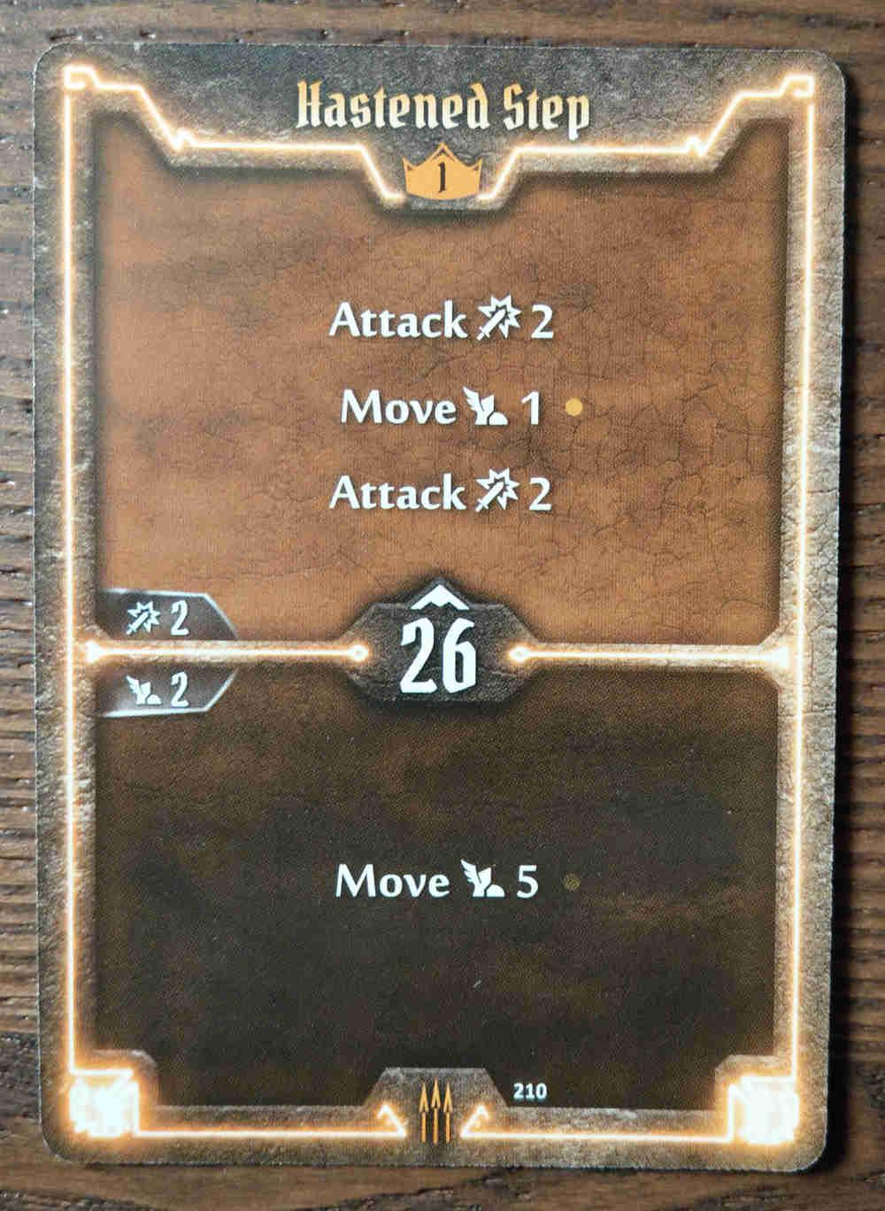 Level 1 Quartermaster card Hastened Step