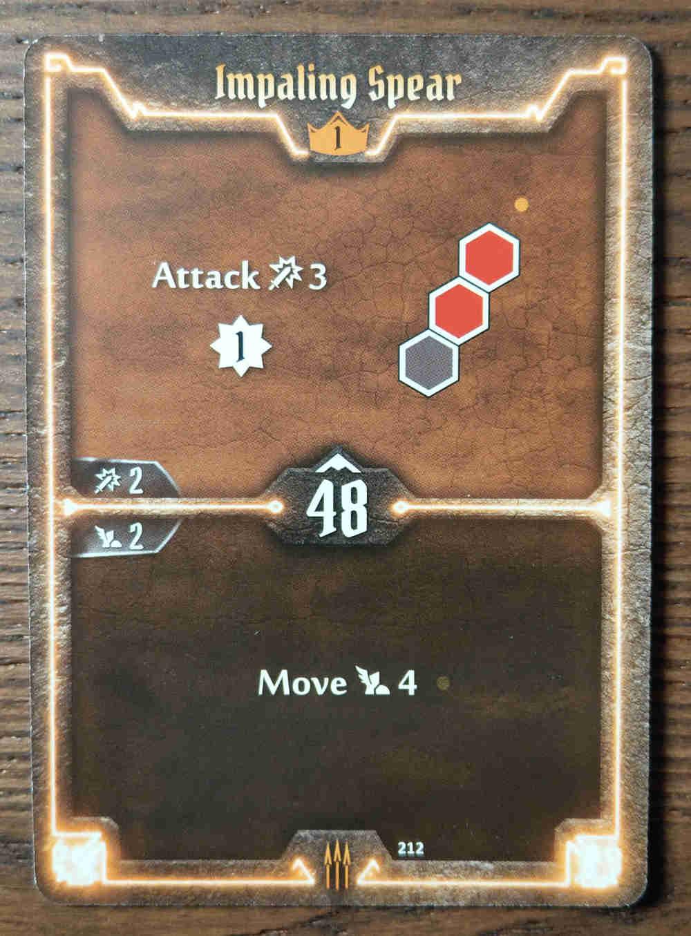 Level 1 Quartermaster card Impaling Spear