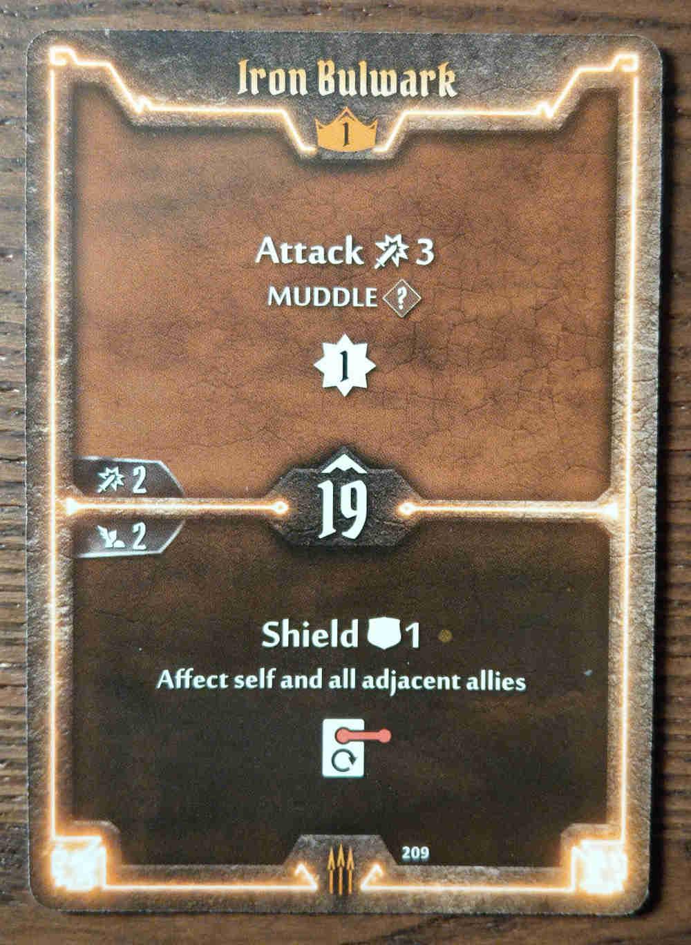 Level 1 Quartermaster card Iron Bulwark