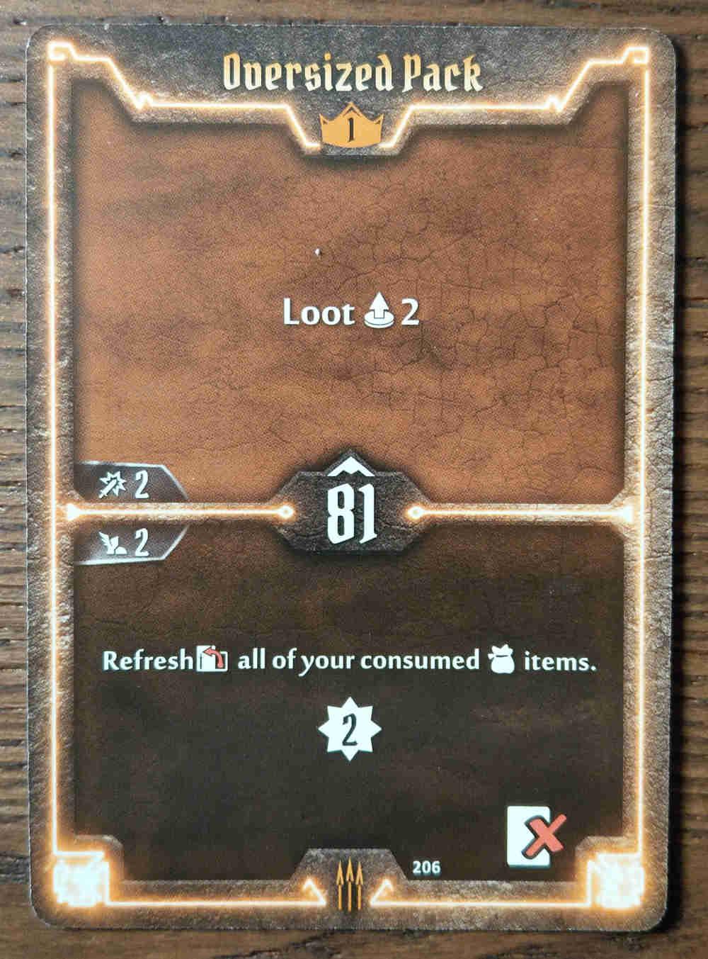 Level 1 Quartermaster card Oversized Pack
