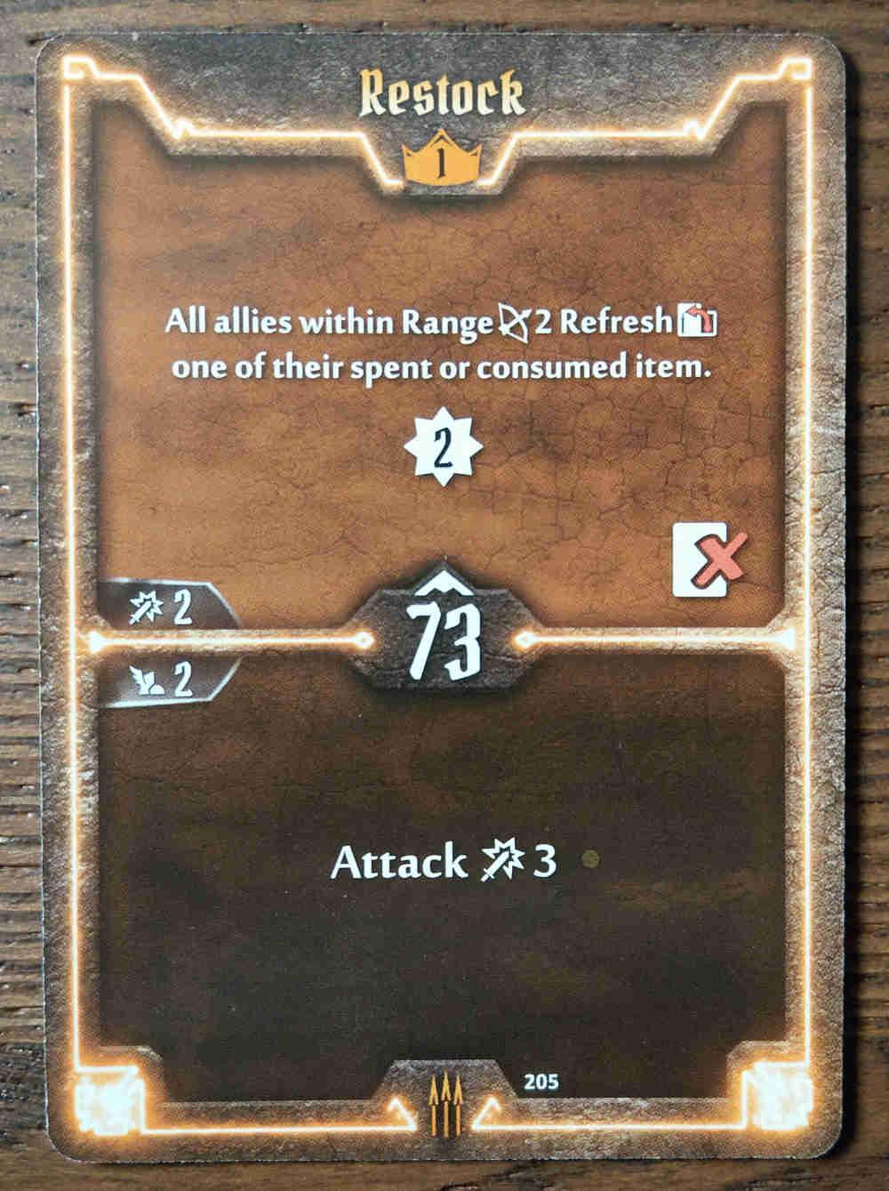 Level 1 Quartermaster card Restock