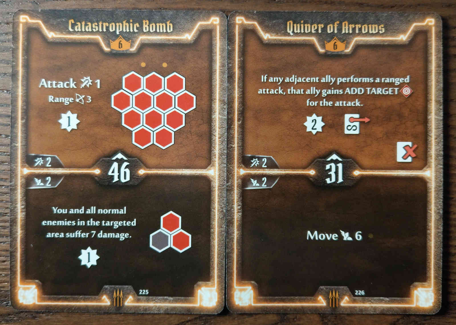 Level 6 Quartermaster cards - Catastrophic Bomb and Quiver of Arrows