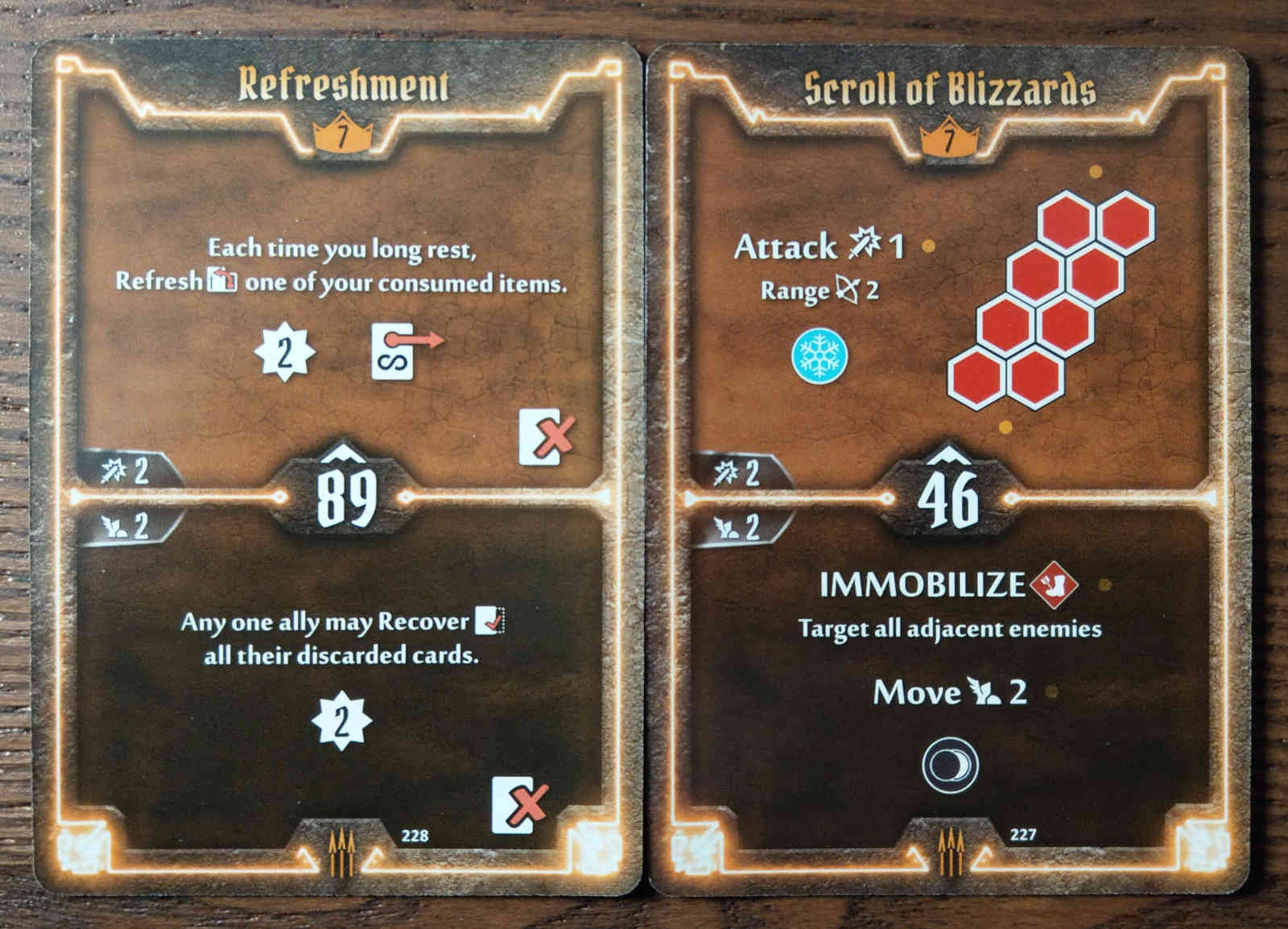 Level 7 Quartermaster cards - Refreshment and Scroll of Blizzards