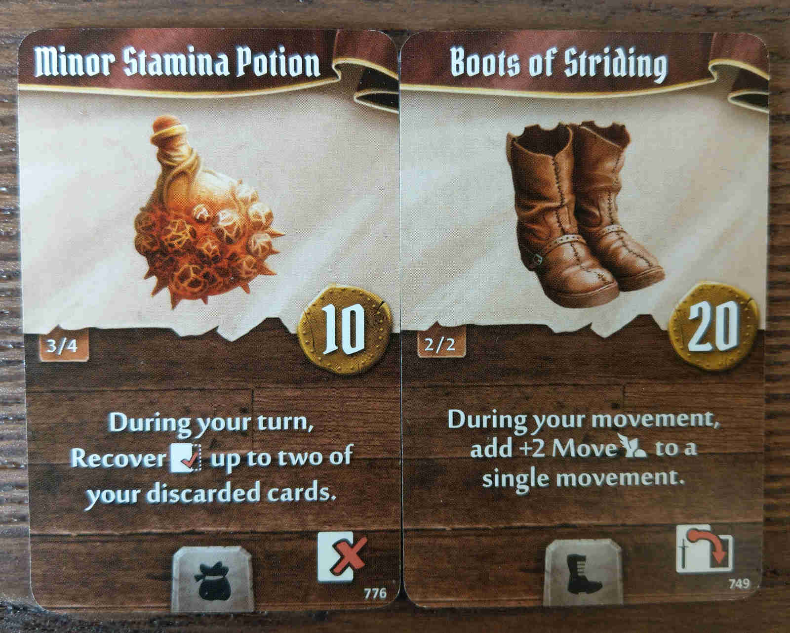 Soothsinger starting items - Minor Stamina Potion and Boots of Striding