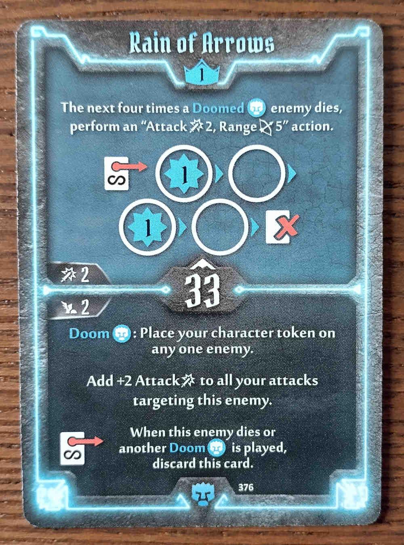 Level 1 Doomstalker card Rain of Arrows