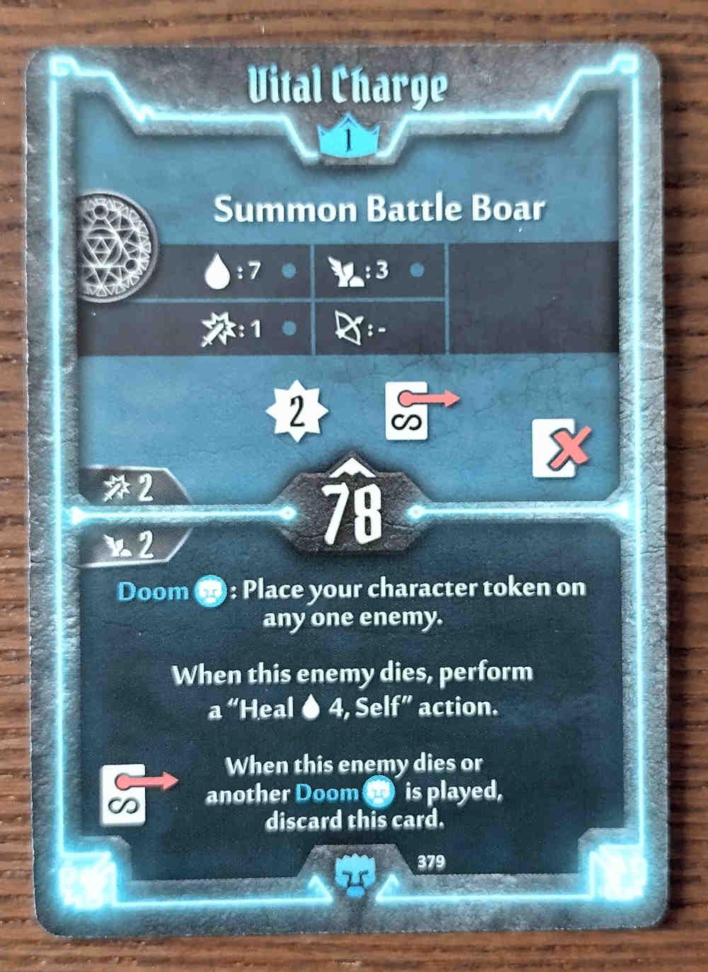 Level 1 Doomstalker card Vital Charge