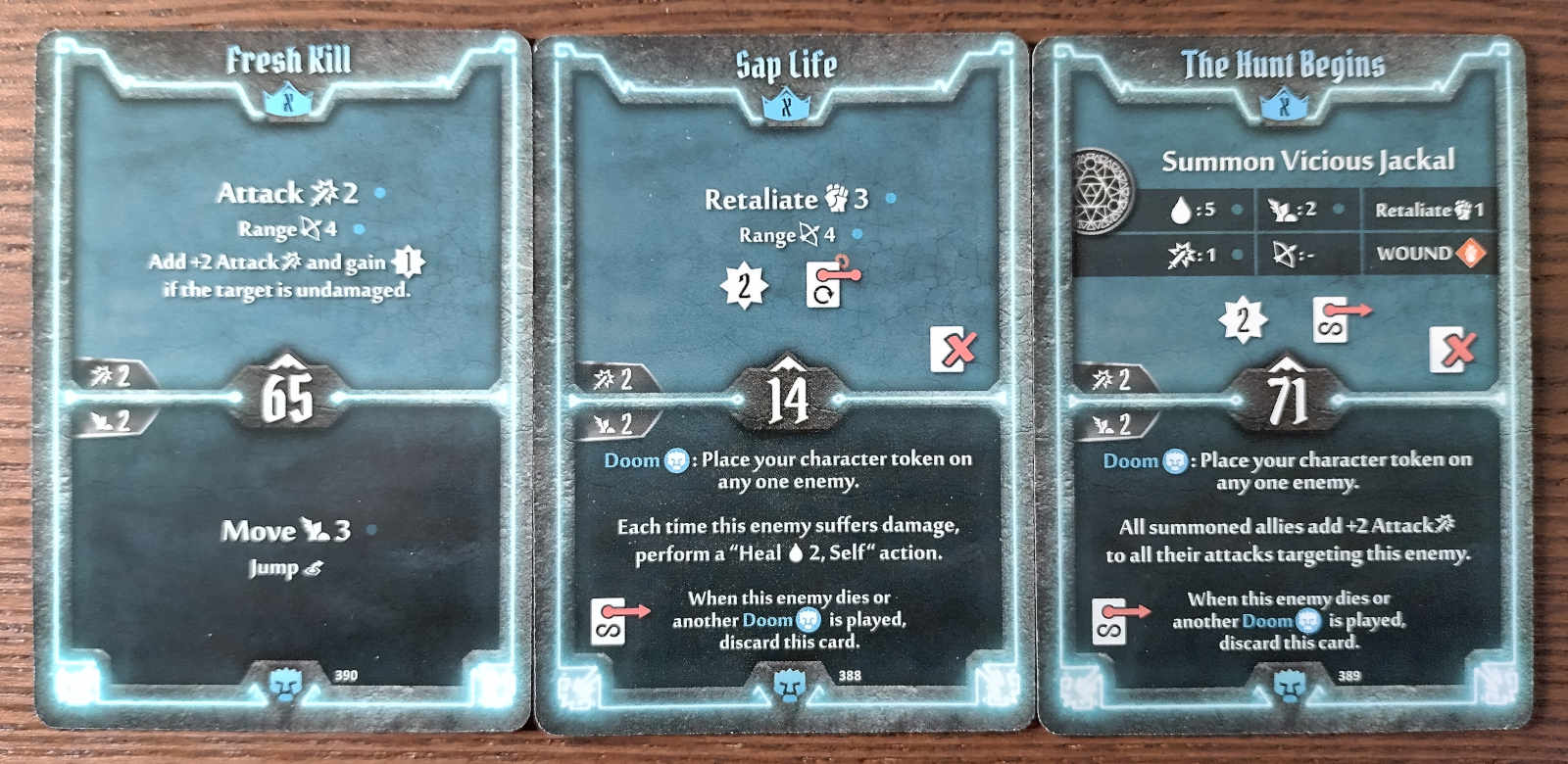 Doomstalker level X cards - Fresh Kill, Sap Life, and the Hunt Begins