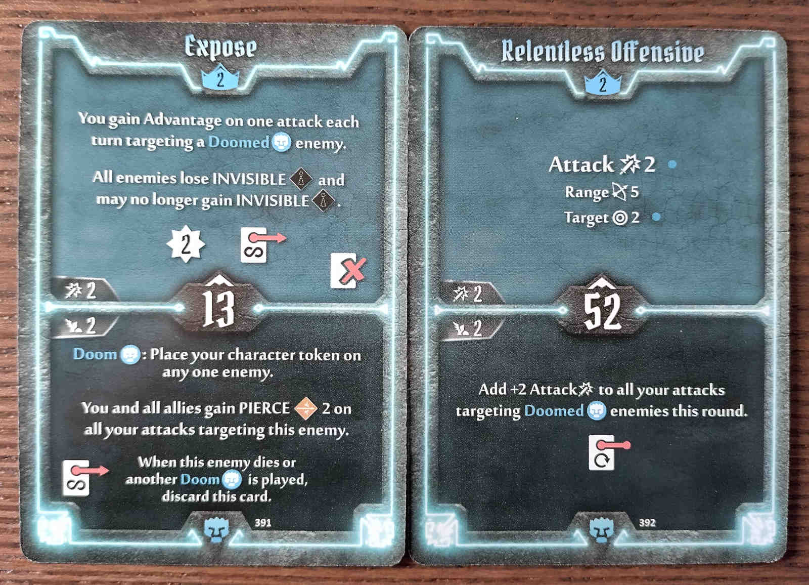 Level 2 Doomstalker cards - Expose and Relentless Offensive