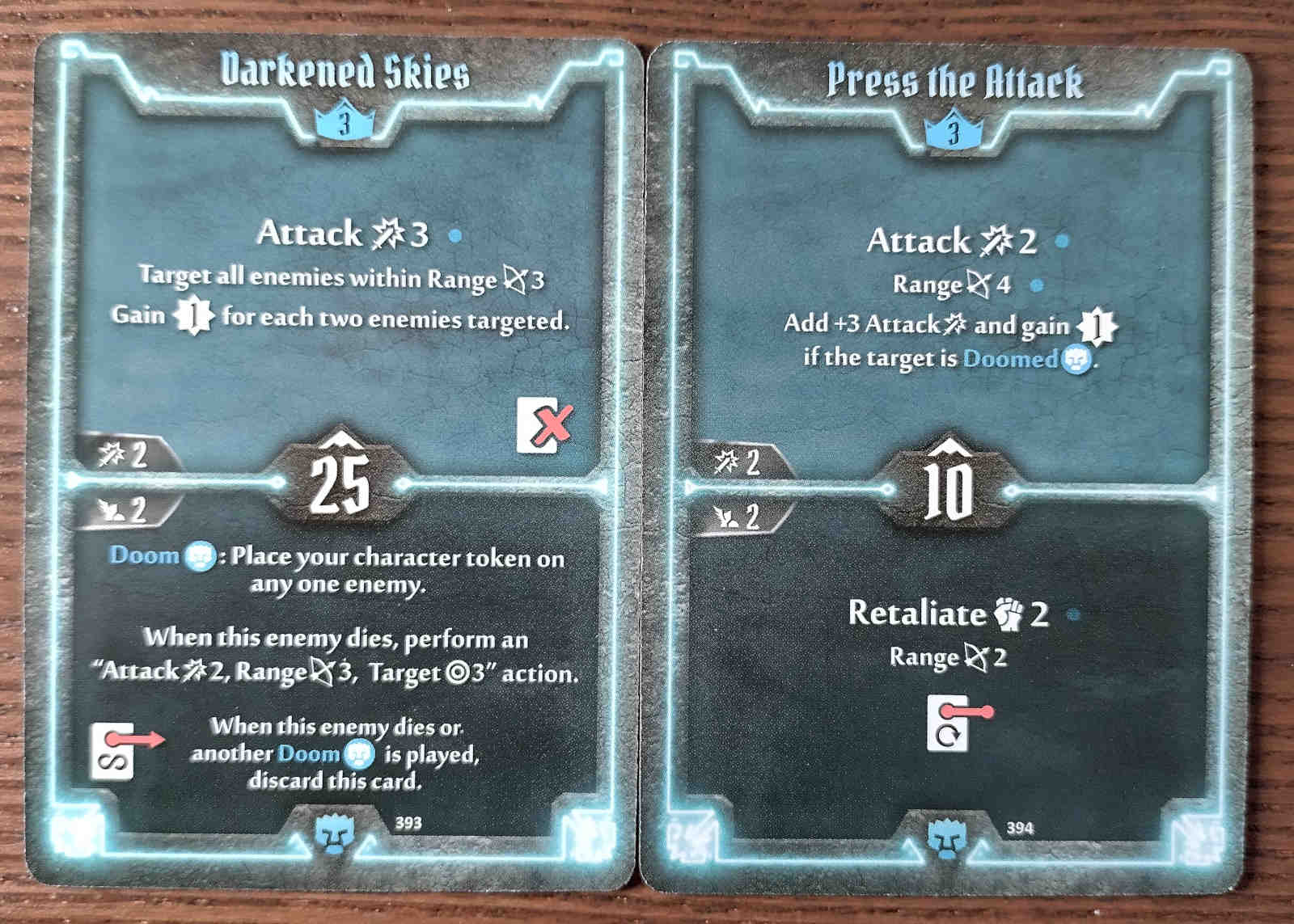 Level 3 Doomstalker cards - Darkened Skies and Press the Attack