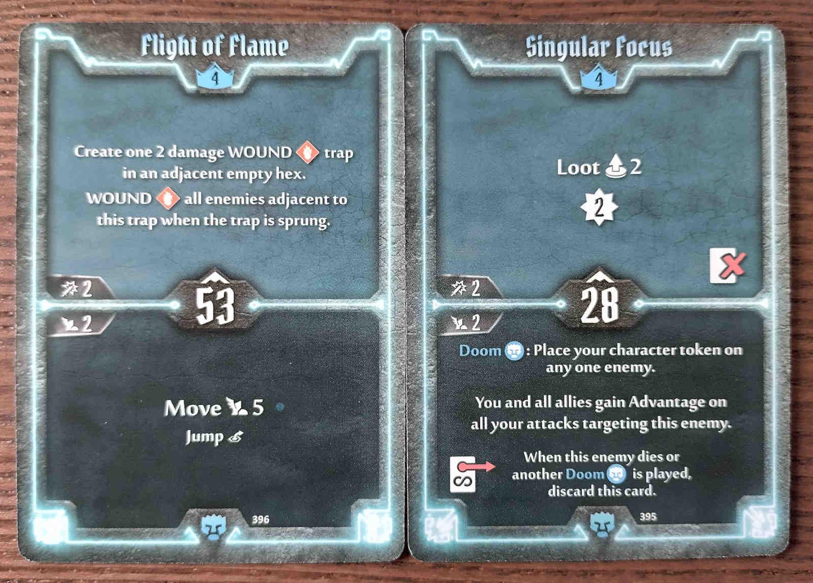 Level 4 Doomstalker cards - Flight of Flame and Singular Force
