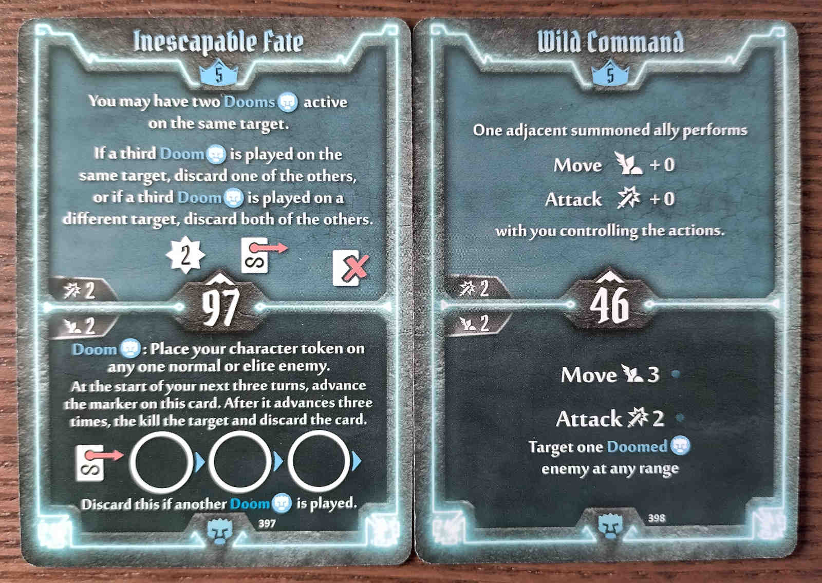 Level 5 Doomstalker cards - Inescapable Fate and Wild Command