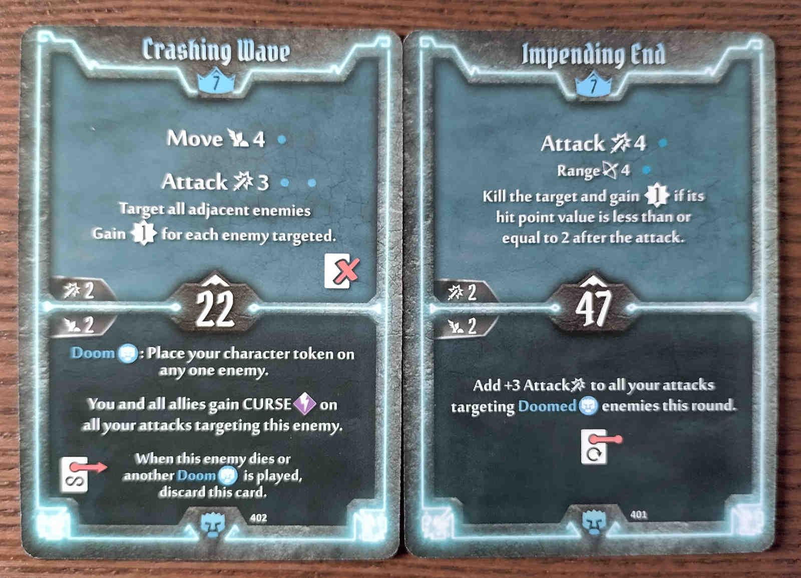 Level 7 Doomstalker cards - Crashing Wave and Impending End