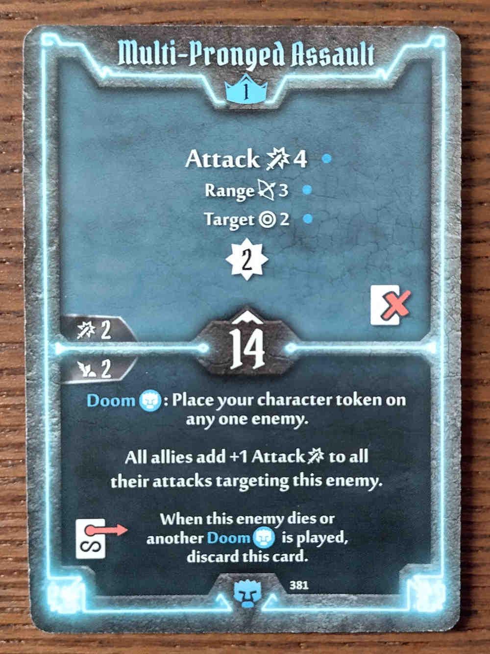 Level 1 Doomstalker card Multi-Pronged Assault
