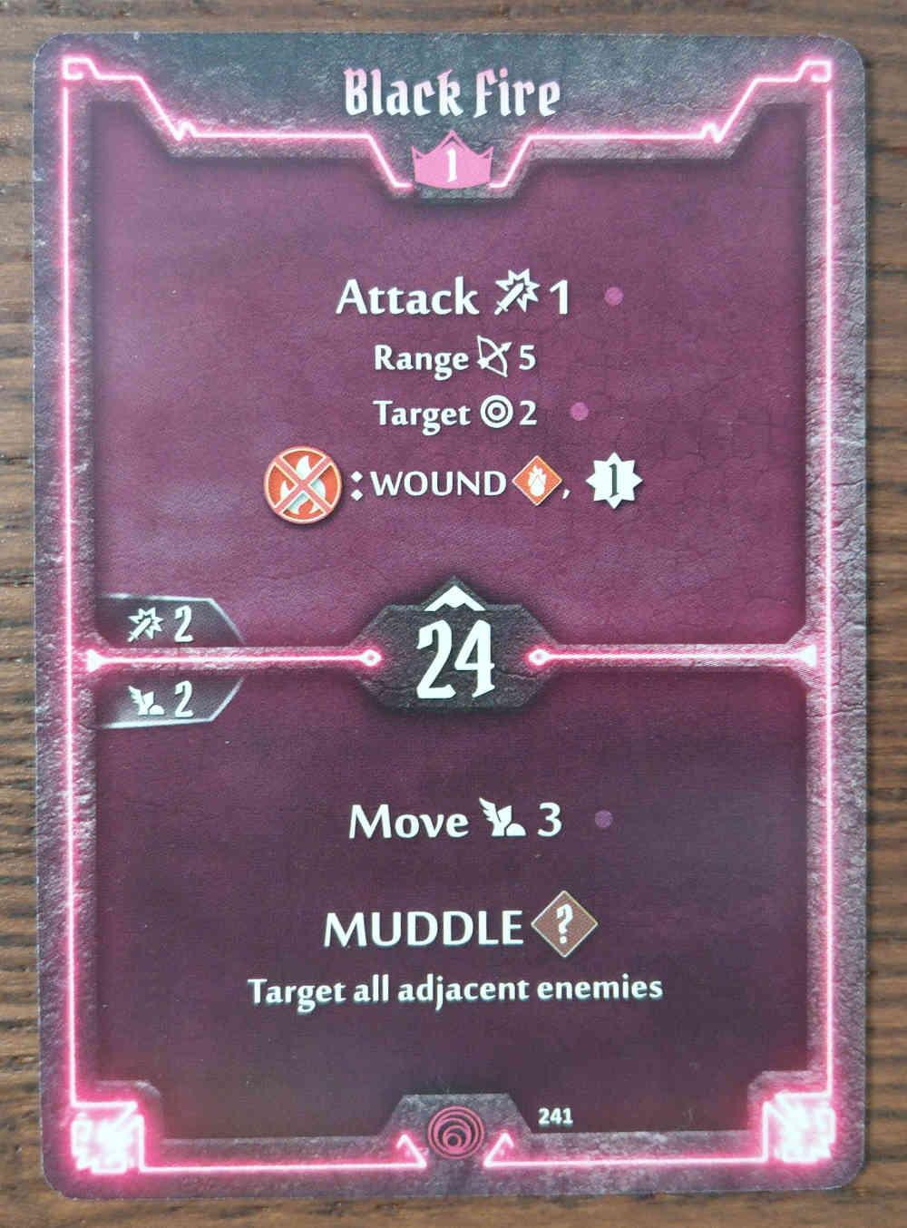 Level 1 Summoner card Black Fire