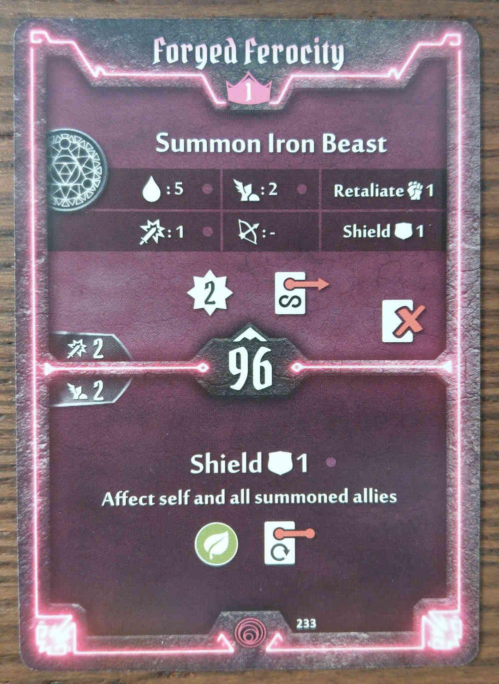 Level 1 Summoner card Forged Ferocity
