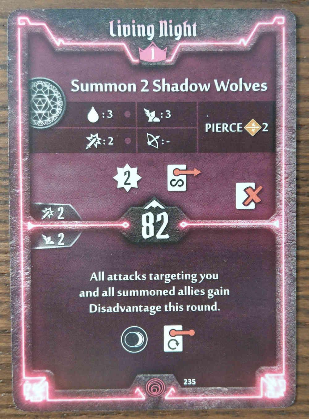 Level 1 Summoner card Living Night
