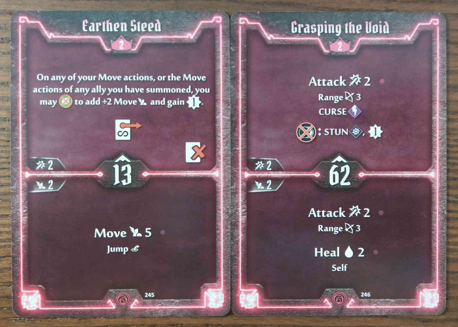 Level 2 Summoner cards - Earthen Steed and Grasping the Void