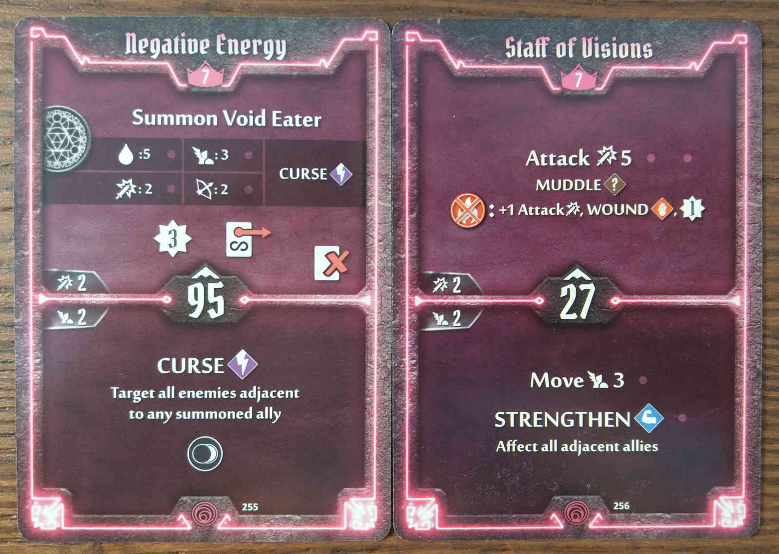 Level 7 Summoner cards - Negative Energy and Staff of Visions