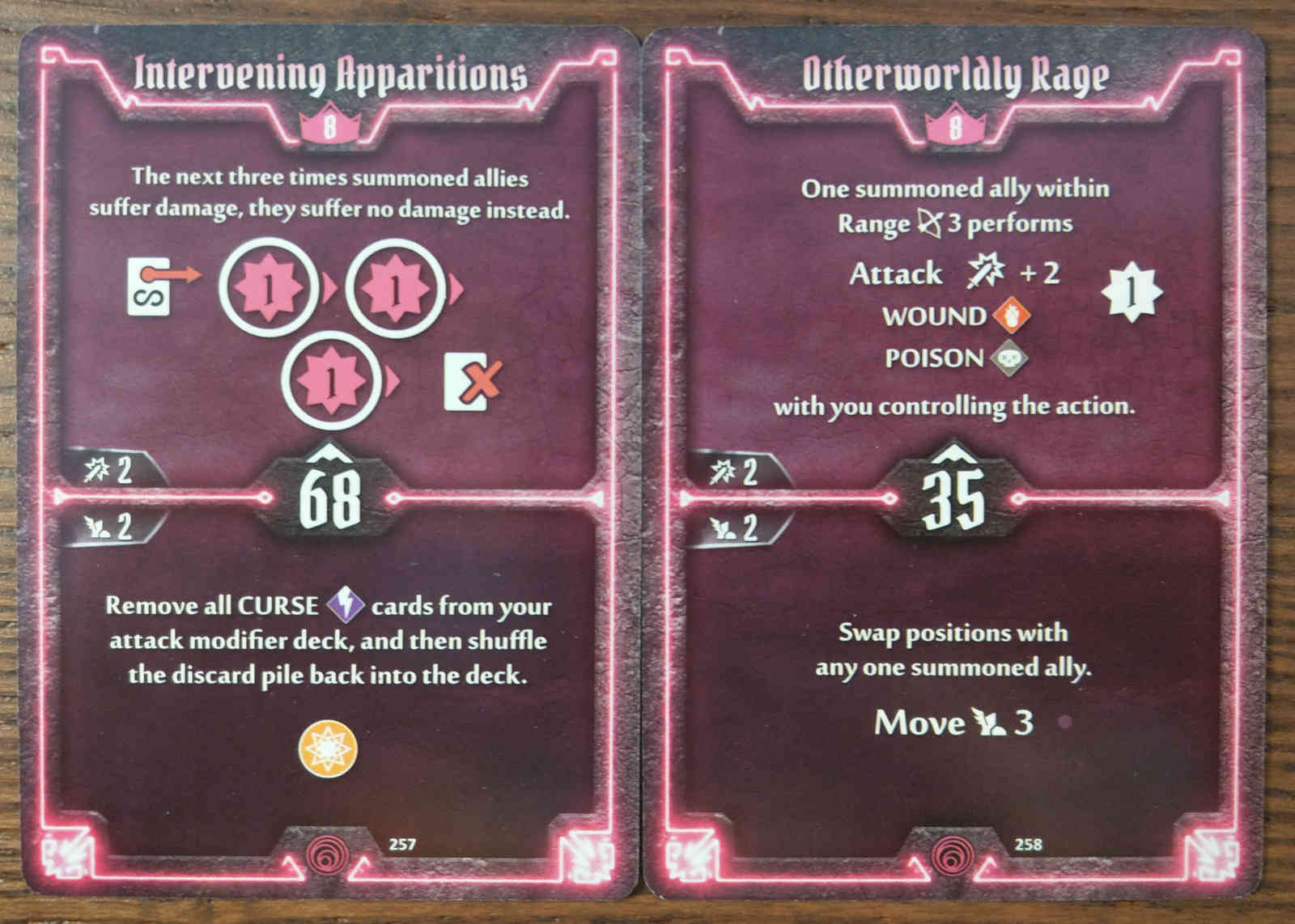 Level 8 Summoner cards - Intervening Apparitions and Otherworldly Rage
