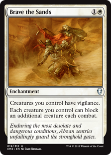 Brave the Sands MtG card. Image: Wizards of the Coast.