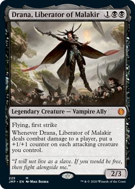 Drana, Liberator of Malakir MtG card. Image: Wizards of the Coast.