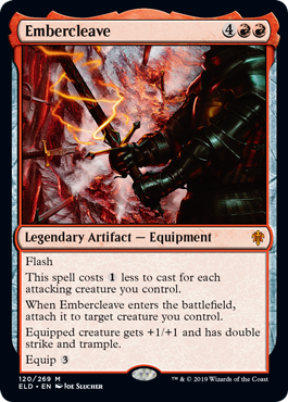Embercleave MtG card. Image: Wizards of the Coast.