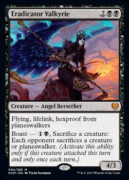 Eradicator Valkyrie MtG card. Image: Wizards of the Coast.