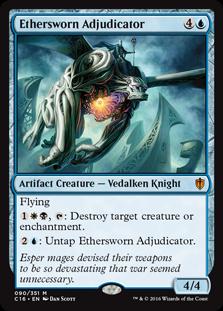 Ethersworn Adjudicator MtG card. Image: Wizards of the Coast.