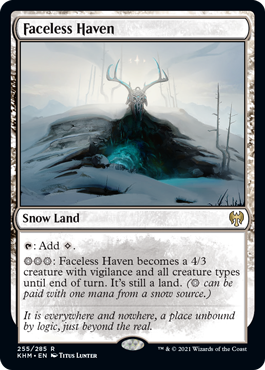 Faceless Haven MtG card. Image: Wizards of the Coast.