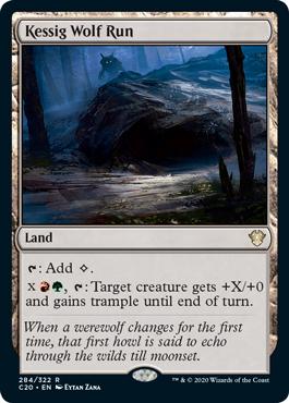 Kessig Wolf Run MtG card. Image: Wizards of the Coast.
