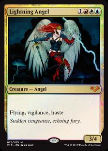 Lightning Angel MtG card. Image: Wizards of the Coast.