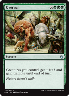 Overrun MtG card. Image: Wizards of the Coast.
