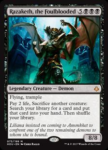 Razaketh, the Foulblooded MtG card. Image: Wizards of the Coast.