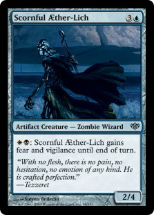 Scornful Aether-Lich MtG card. Image: Wizards of the Coast.